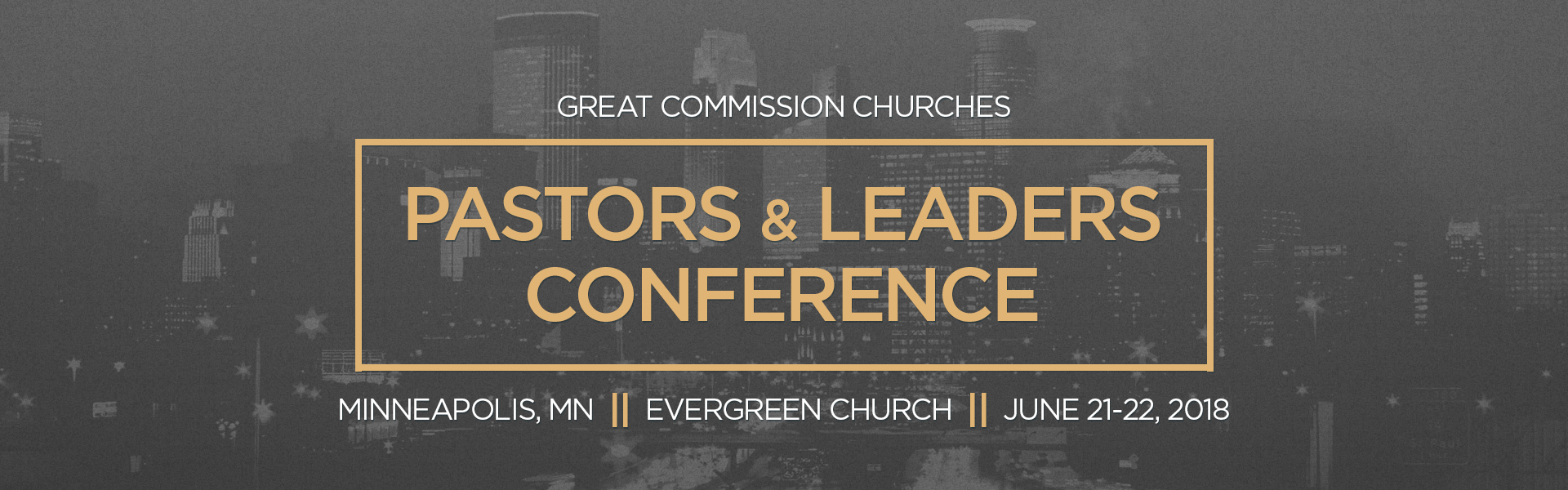 great commission churches pastors conference banner